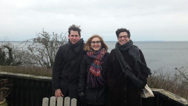 Trip to Kalø. From left to right: Hagen Schulz-Forberg, Marieke Oprel, and Teresa Malice.